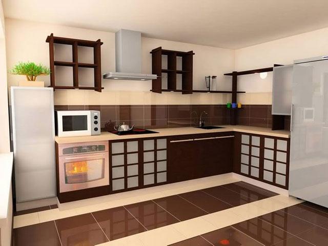 Пол на кухне в китайском стиле