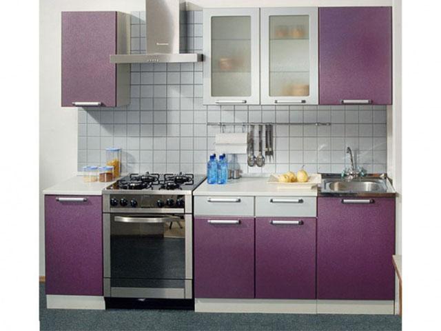 серо фиолетовая кухня