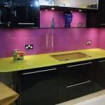 черно фиолетовая кухня
