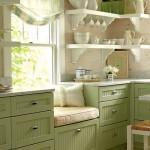 кухни фисташкового цвета
