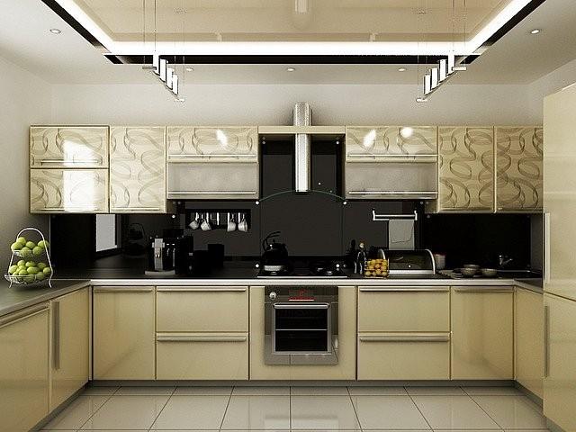 Дизайн кухни буквой п