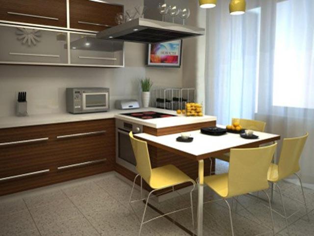 Дизайн кухни 13 кв м с лоджией 77