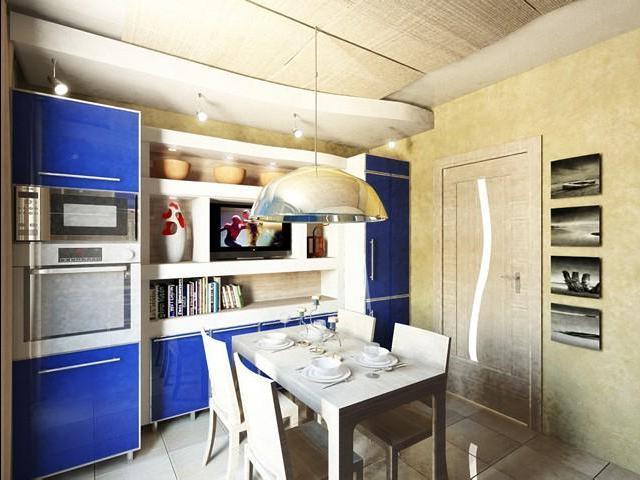 дизайн кухни 12 кв м с эркером