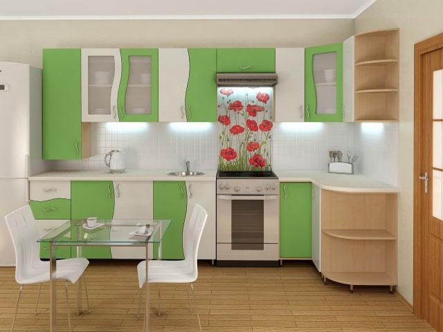 Изюминкой помещения может стать красивый фартук