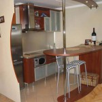 маленькие кухни с барной стойкой