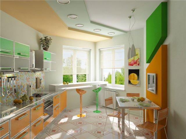 установка барной стойки на кухне