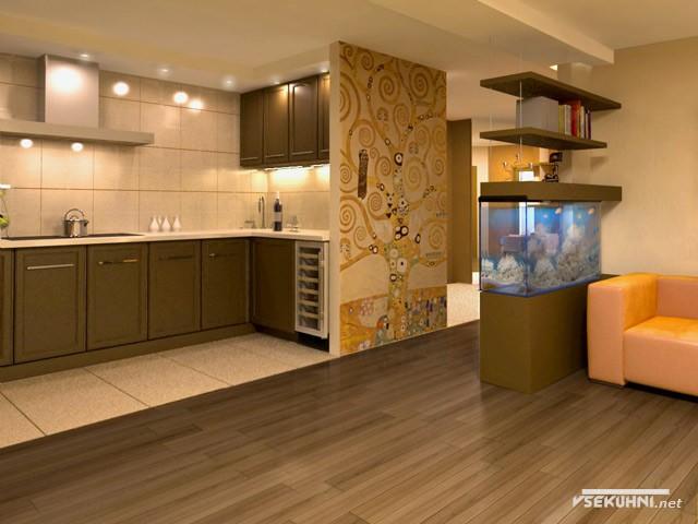Кухня со встроенной бытовой техникой