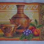 Картина, выполненная в технике вышивки крестиком