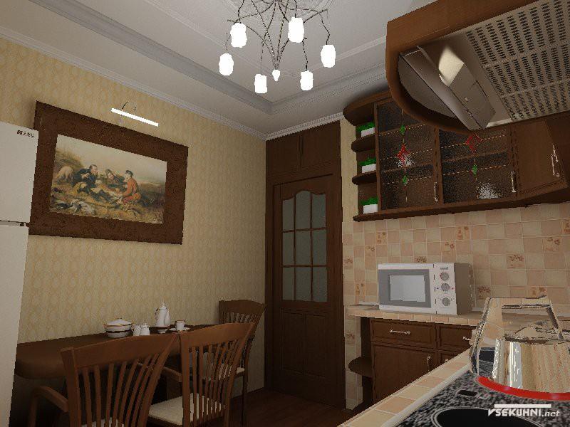 Дизайн двери кухни