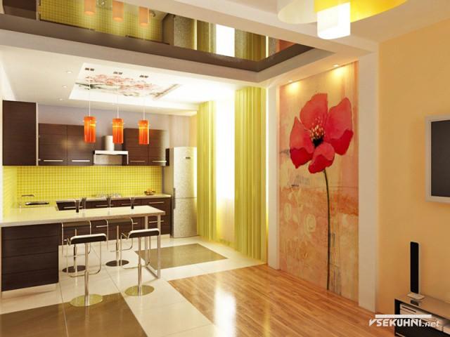 Дизайн кафеля на кухне - фото