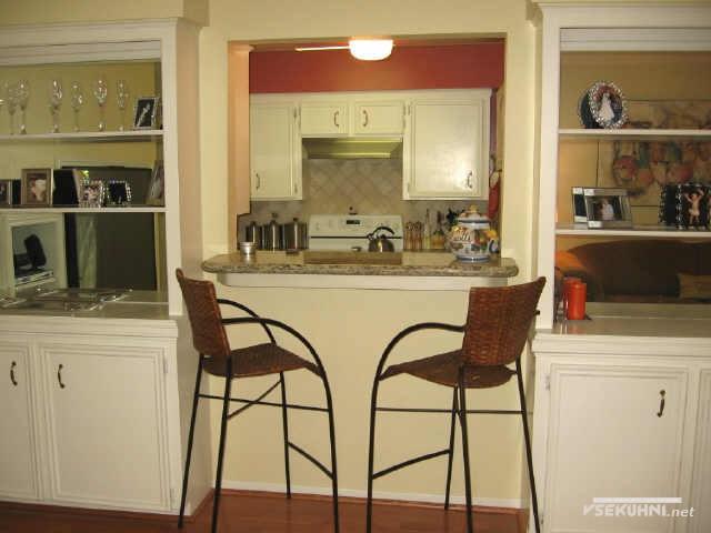 Фото - барная стойка для маленькой кухни