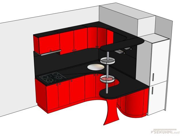 Фото - маленькие кухни с барной стойкой