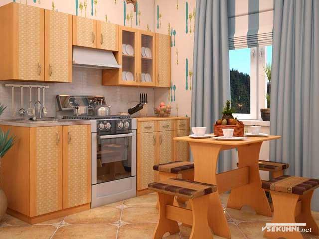 Фото: наборная мебель для кухни эконом