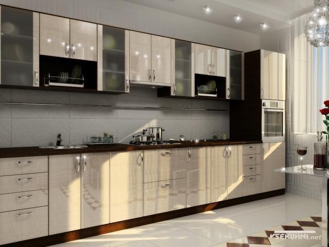 Модульная мебель для кухни эконом - фото