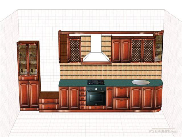 Образец наборной кухонной мебели