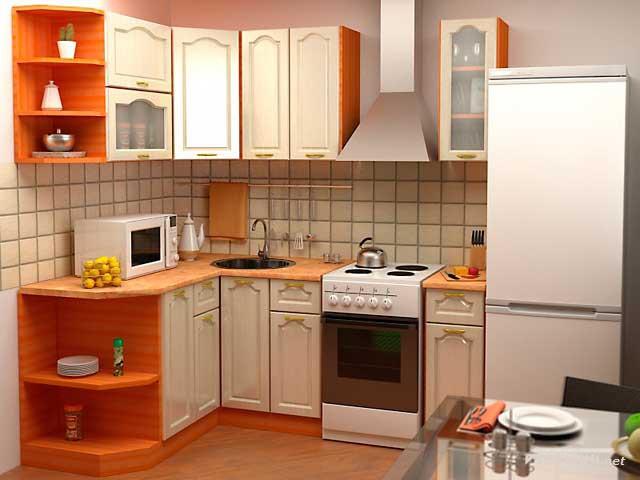 Модульная мебель для кухни-эконом класса