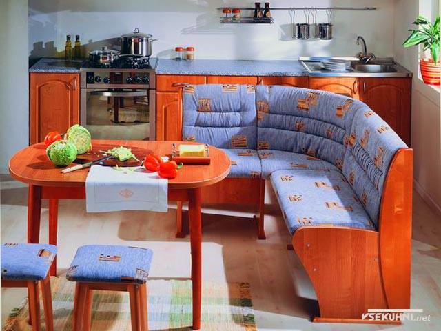 Фото: мягкая мебель для кухни