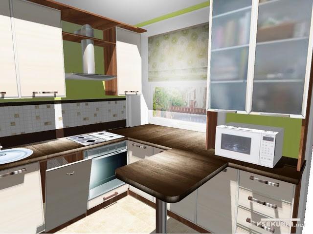 Образец откидной столешницы для маленькой кухни