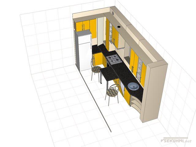 Идея планировки с транформером-столом