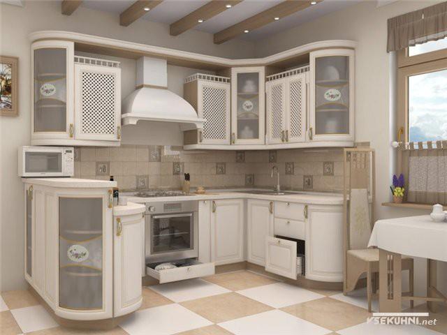 Корпусная мебель для кухни сверху прикрывается удобной столешницей