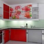 Корпусная мебель для кухни в ярких тонах