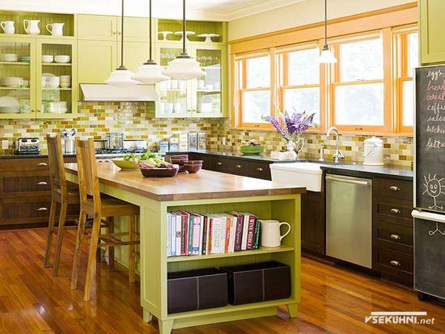 Крашенные мебельные фасады для кухни из мдф
