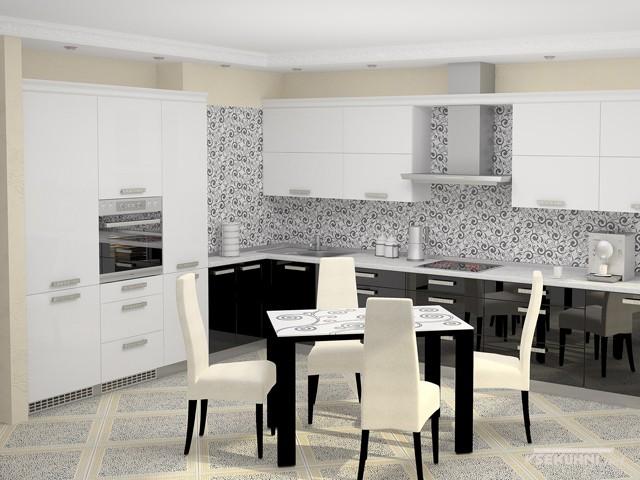 Черно-белые обеденные группы для кухни