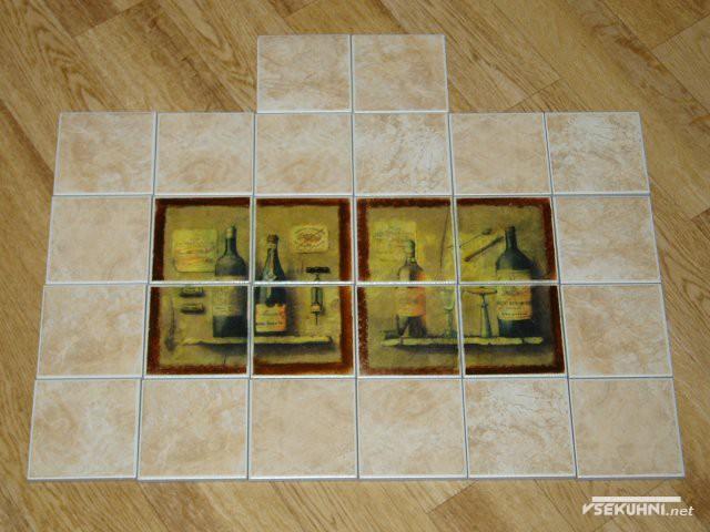 Керамическое панно для кухни с рисунком