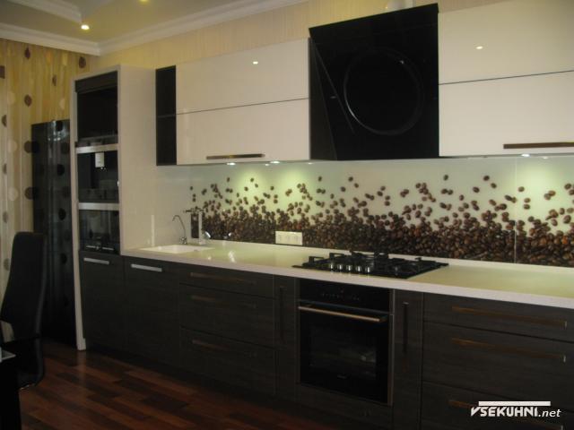 Панно на кухню из стекла  кофейной тематики