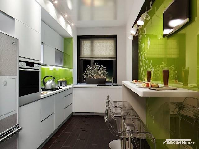 Дизайн кухня пенал