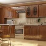 Деревянный узкий пенал для кухни
