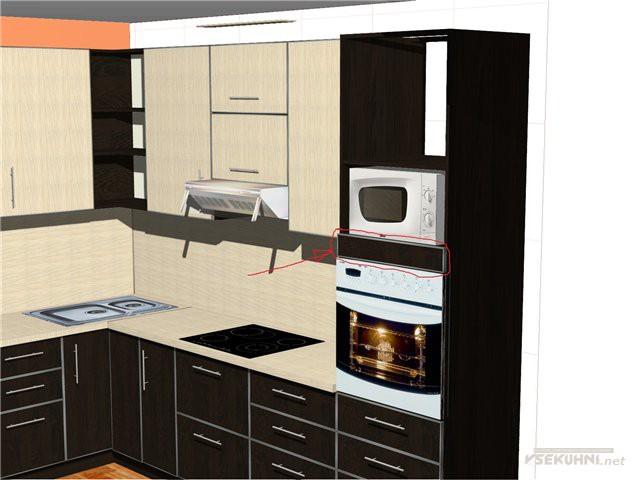 Шкаф пенал для кухни схема