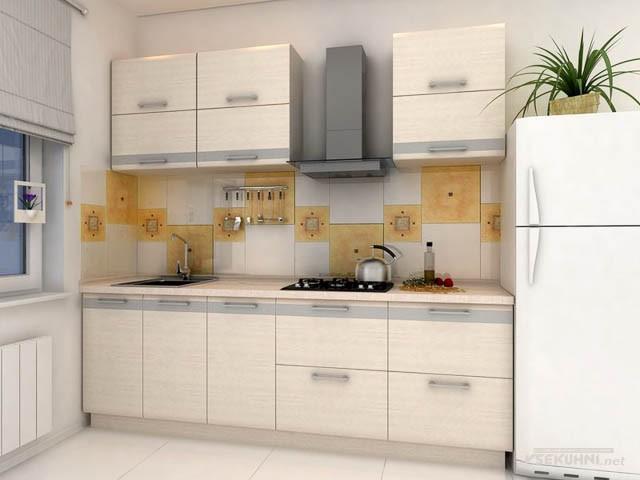 Модульная мебель для кухни в бежевом цвете