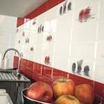 Настенная плитка для кухни ягодной тематики