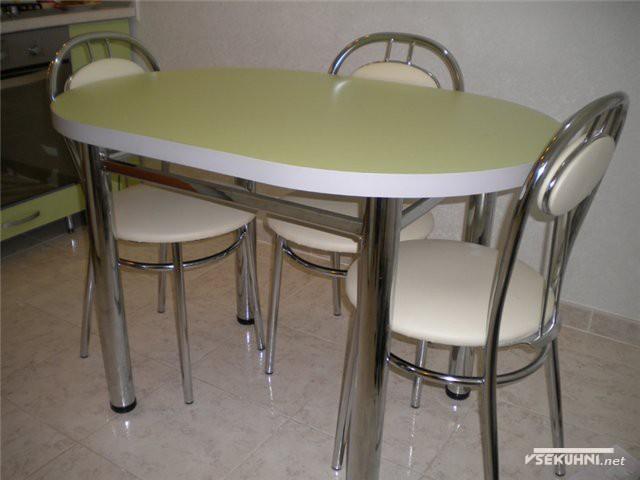 Столы для кухни овальные из металла