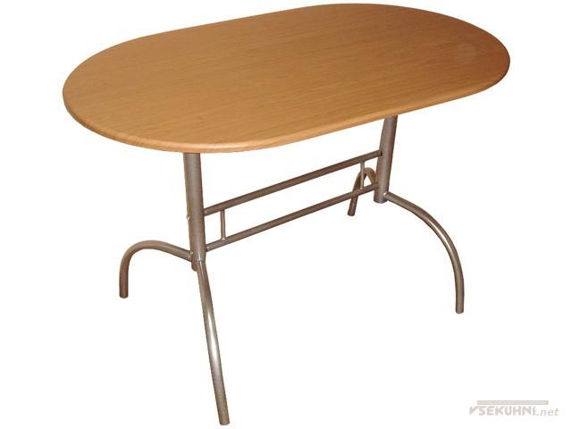 Овальные обеденные столы для кухни с металлическими ножками