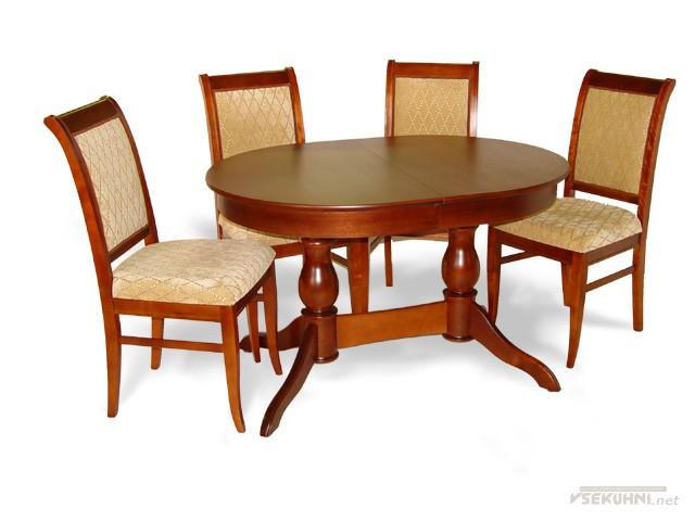 Классические столы для кухни овальные