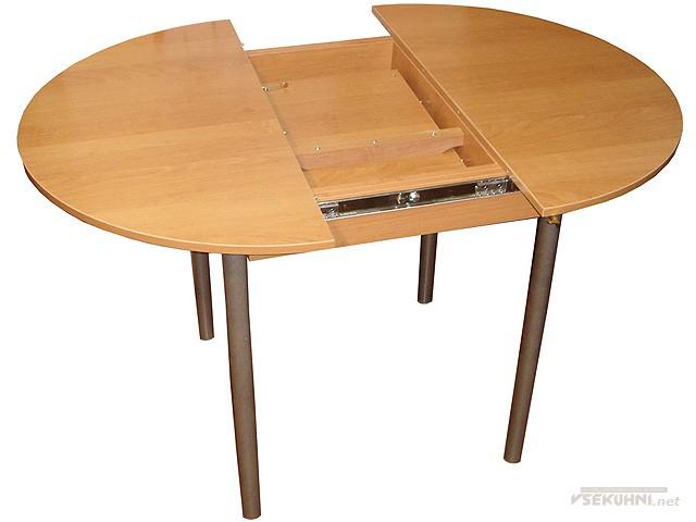 Овальный стол на кухню раскладной вариант