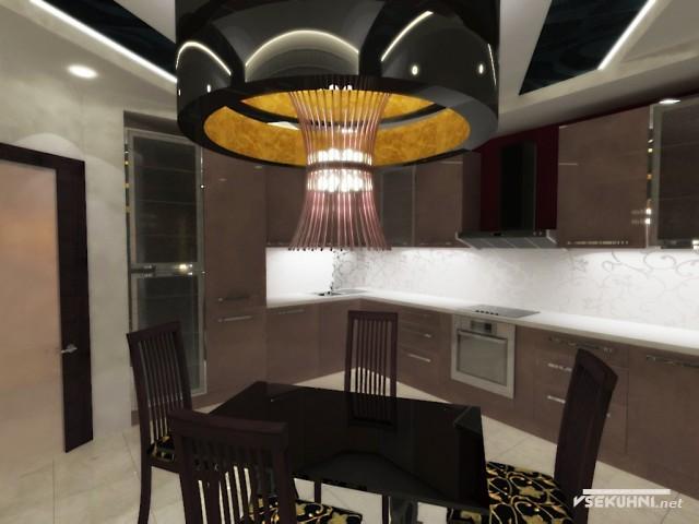 Угловая мебель для кухни - дизайн-проект