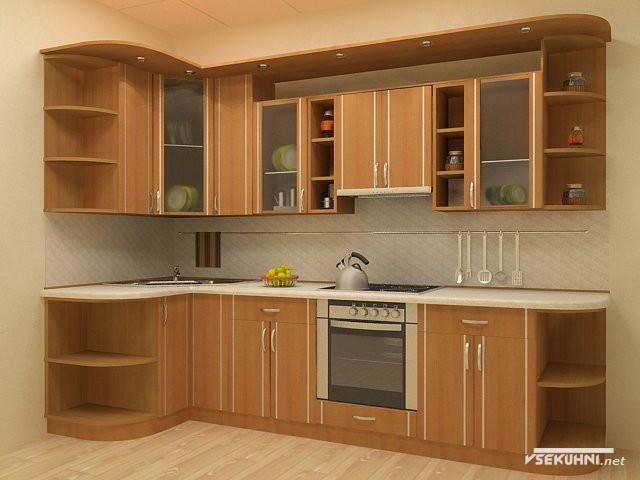 Мебель для кухни угловая из дерева