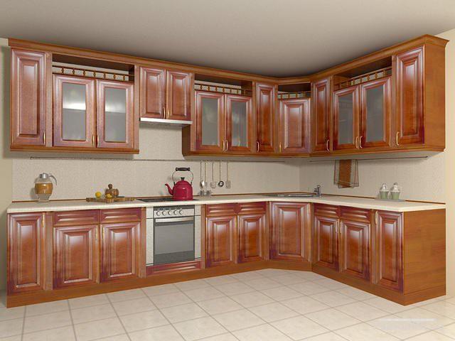 Мебель для кухни угловая для большого помещения