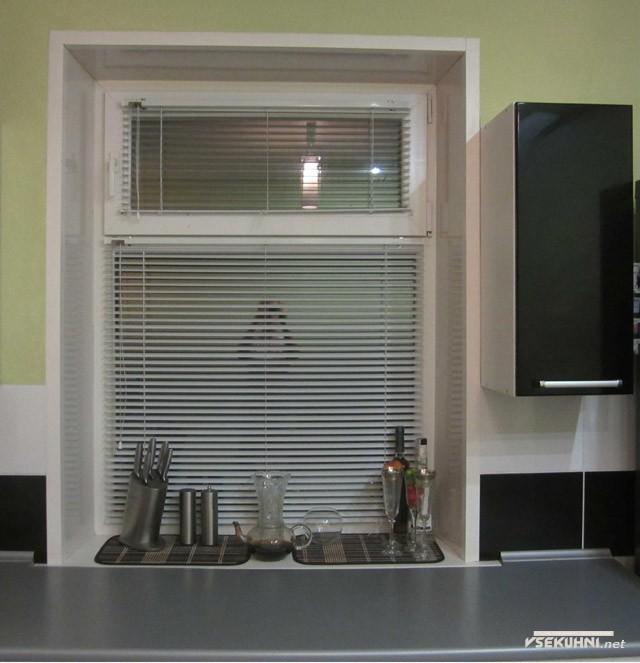 Жалюзи на пластиковые окна для кухни
