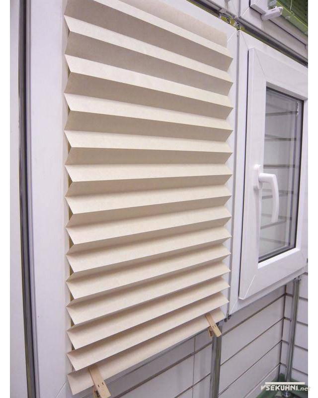 Фото - бумажные жалюзи для пластиковых окон