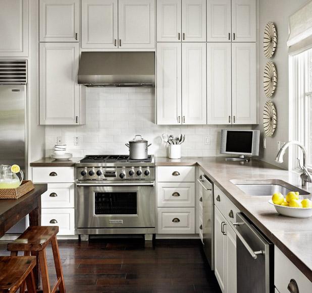 Бетонная столешница для кухни - фото