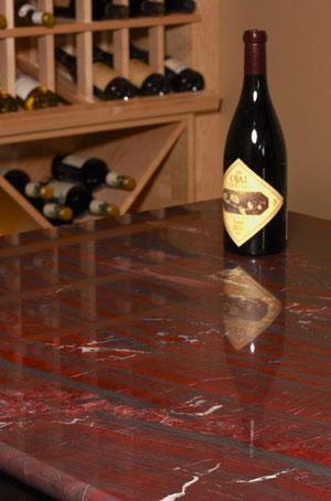 Столешница для кухни из красного гранита - фото