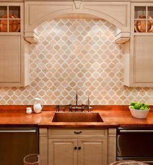 Мраморная столешница для кухни - фото