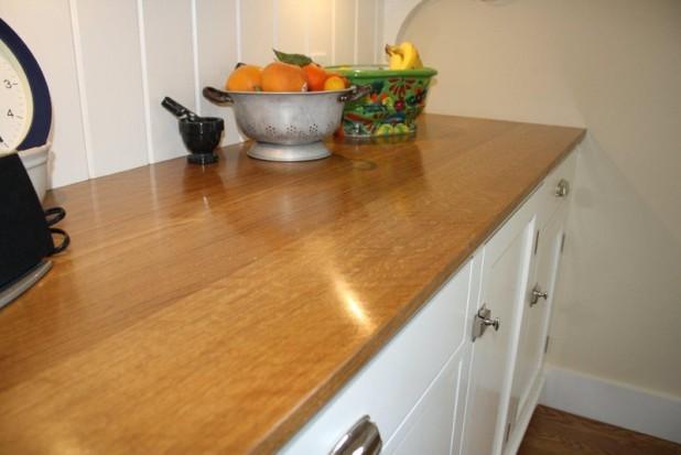 Фото - столешница из дерева для кухни