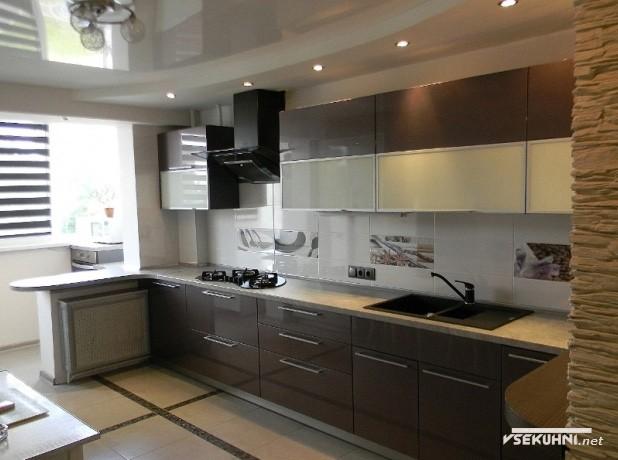 Оформление кухни площадью 23 кв м - фото