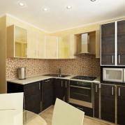 Дизайн 9 метровой квадратной кухни - фото