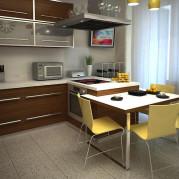 Дизайн кухни 9 кв м в желтом цвете